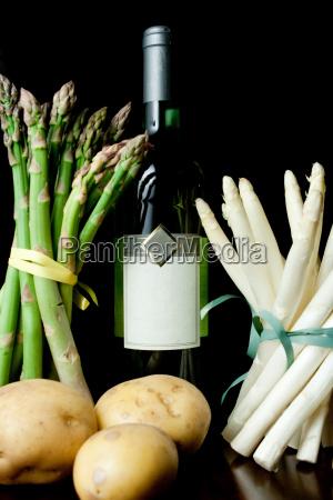 cibo vino frutta verdura asparago patata