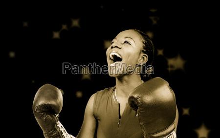 donna competizione sport da combattimento scatola