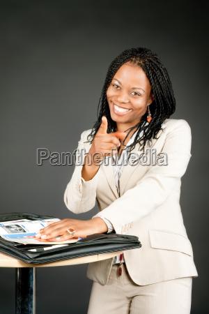 donna ufficio dito africa bello carino