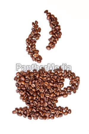 tazza caffe vapore pittogramma icona fagiolo