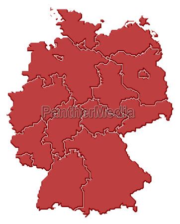 mappa di germania