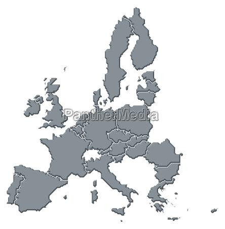 mappa dellunione europea