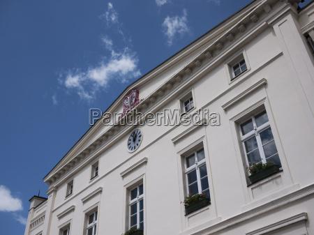 wusterhausen rathaus fassadendetail