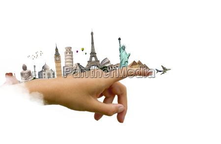 illustrazione, del, famoso, monumento, del, mondo - 14126753