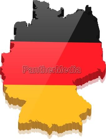 germania con germania colori foto stock