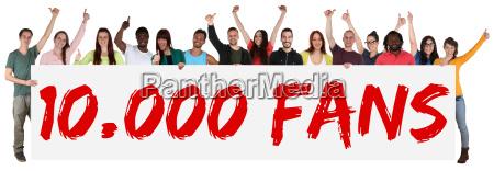 fan supporter 10000 likes soziales netzwerk