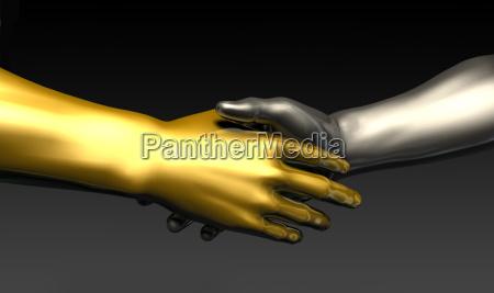 mano mani stretta di mano contratto